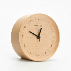 Xiaomi Mute Logs Wooden Alarm Clock About Time